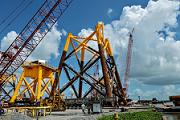 Offshore jacket foundations.
